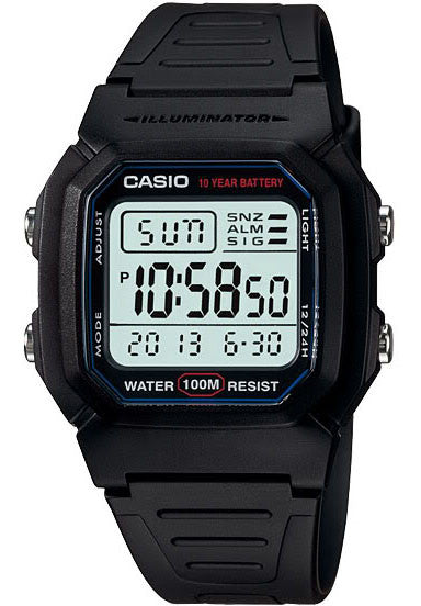 Casio W-800H-1AV lluminating Multi-Alarm Watch 10 Year Battery