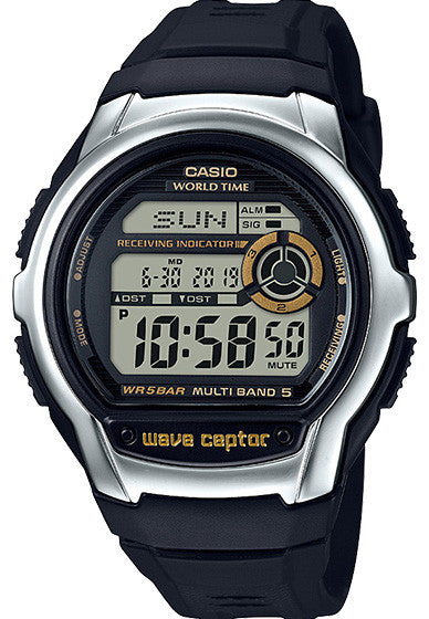 Casio WV-M60-9AV Mens WAVECEPTOR Watch New 2017 Digital Black Atomic Sports