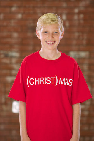(CHRIST)MAS™ RED T-SHIRT - YOUTH BOYS