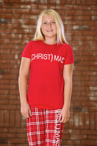 (CHRIST)MAS™ RED T-SHIRT YOUTH GIRLS