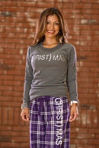 (CHRIST)MAS™ Gray Thermal w/silver foil - JR CLOSEOUT