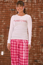 (CHRIST)MAS™ Adult Plaid PJ Bottoms Red/Pink/Purple - UNISEX CLOSEOUT