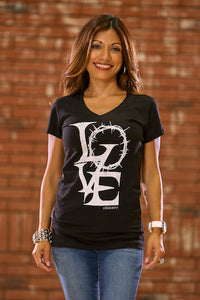 Crown of Love Black VNeck - JR