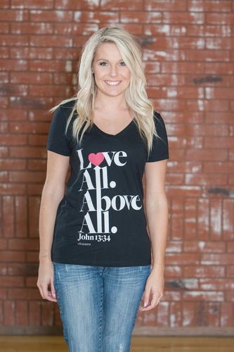 All Black V-Neck Women's