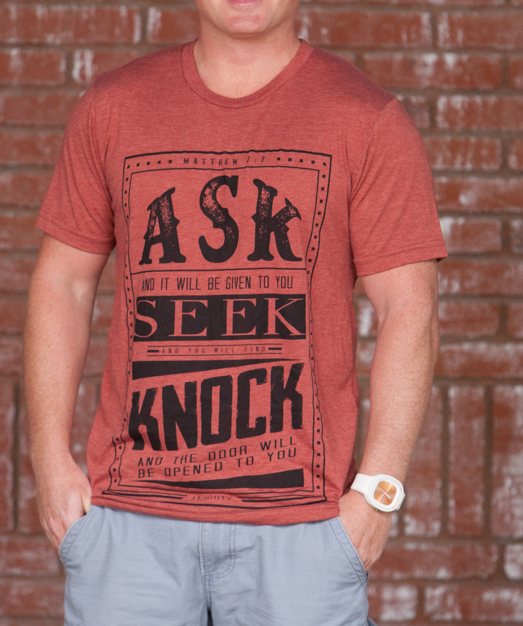 Ask Clay Red T-Shirt - Men's