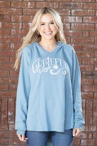 Grateful Misty Blue Hoody - Women's