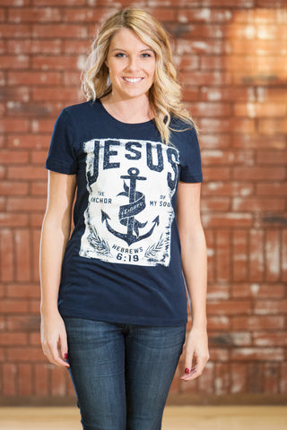 Anchored Navy Blue T-Shirt - JR