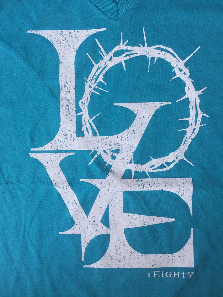 Crown of Love Bondi Blue Crew or V Neck - Men's