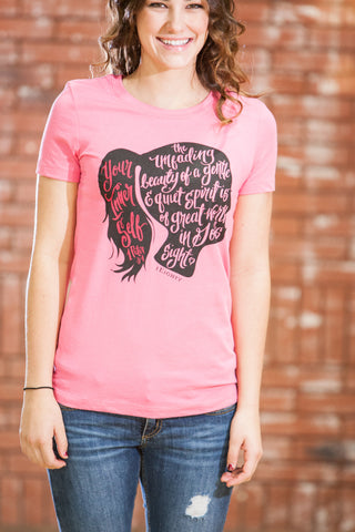 Beauty Inside Pink T-Shirt - JR