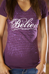 Believe Purple V Neck - JR