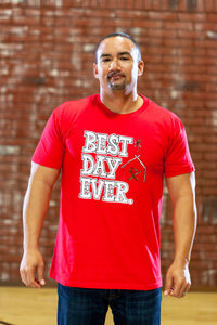 Best Day Ever Red Crew - Men's CLOSEOUT