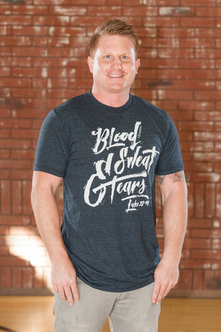 Blood Sweat & Tears Navy Heather T-Shirt - Men's