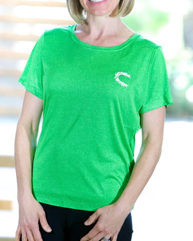 Claimed Athletic Wear Turf Green Heather Contender- Women's