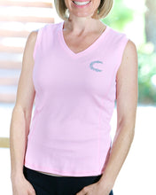 Claimed Athletic Wear Pink V Sleeveless - Women's
