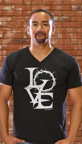 Crown of Love Charcoal Gray V Neck - Men's