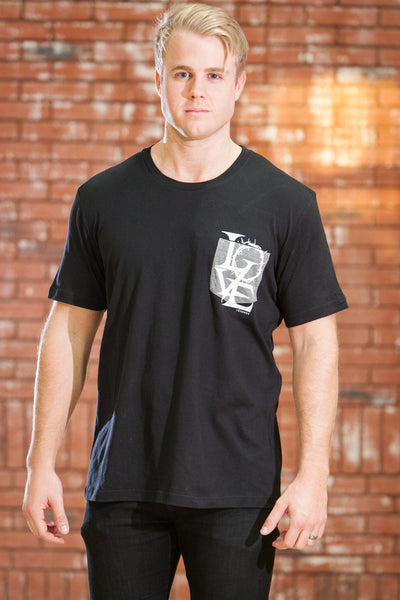 Crown of Love Pocket Black T-Shirt - Men's