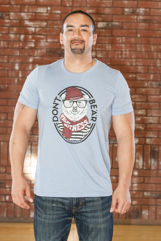 Bear Heather Lt. Blue T-Shirt - Men's