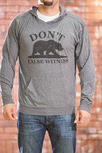 Don't Bear False Witness Gray Hoody - Men's