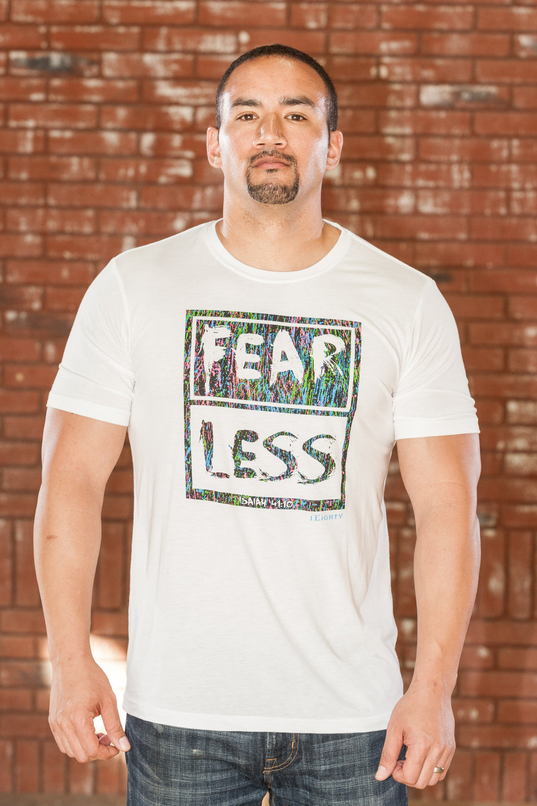 Fearless White T-Shirt - Men's