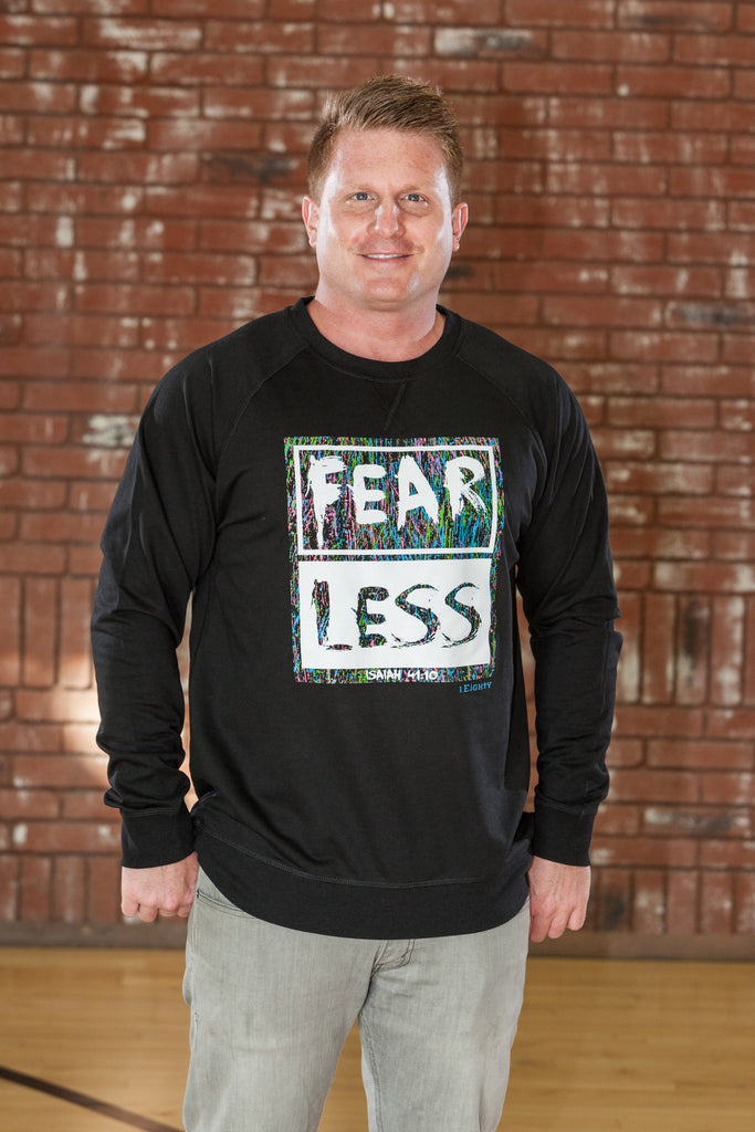 Fearless Black LS Raglan - Men's