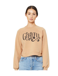 Grateful Sand/Blush Crop Fleece - Women's