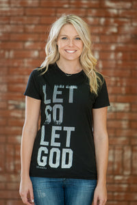 Let Go Black Crew T-Shirt - JR