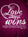 Love Always Wins Short Sleeve Purple - Women's Cut
