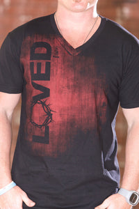 Loved Black V Neck - Men's