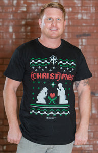 (CHRIST)MAS Manger Black Crew - Men's
