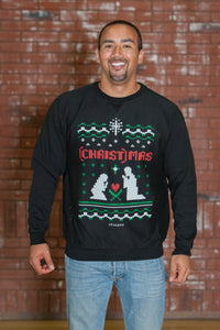 (CHRIST)MAS Manger Black Sweatshirt - Men's SALE