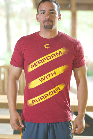 Perform with Purpose Cardinal T-Shirt - Men's