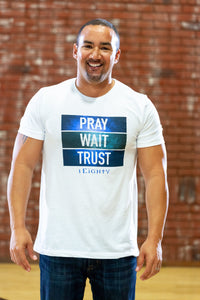 Pray Wait Trust White Crew - Men's