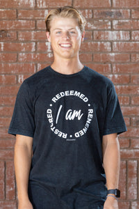 Redeemed Black Acid-Washed tee - Men's