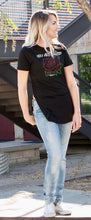 Rose Black Long Body T-Shirt - JR