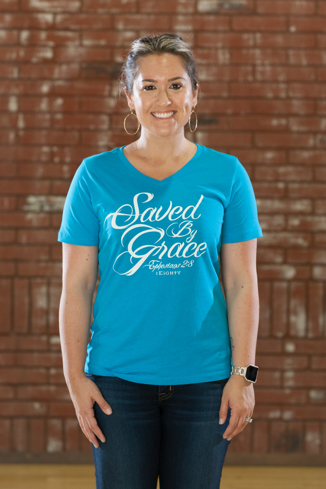 Saved by Grace Turq V-Neck - Women's