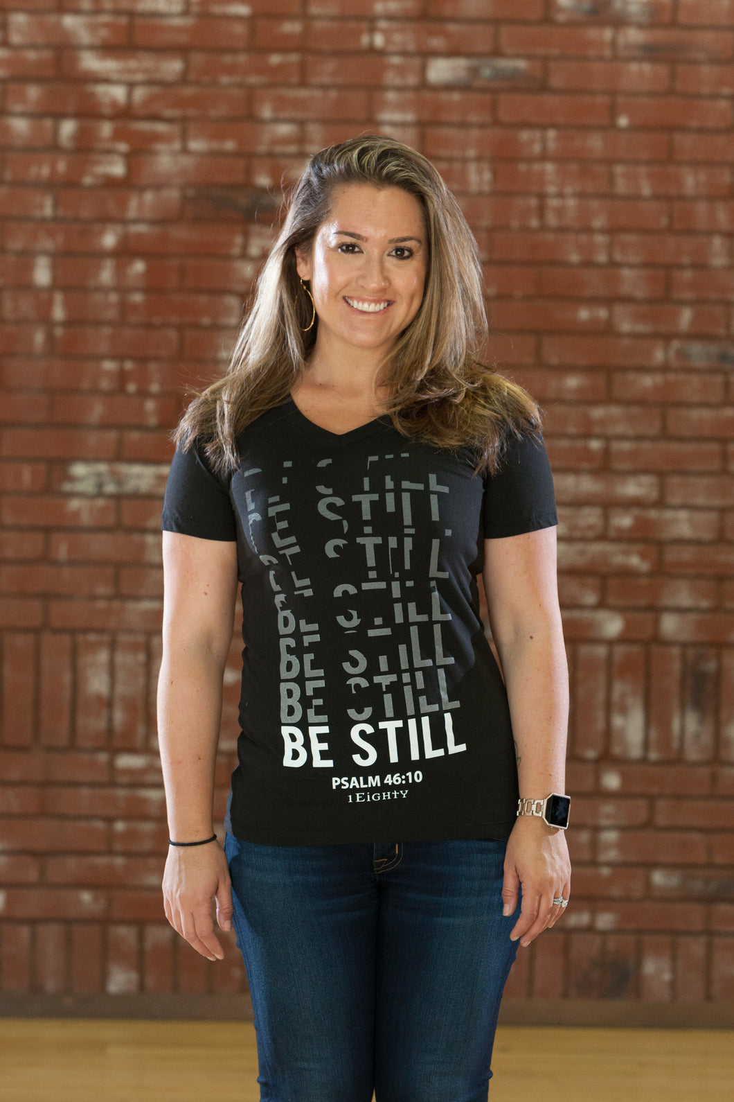 Still V Neck Black - Women's