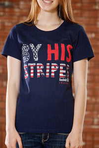 Stripes Navy Traditional Women's T-Shirt - Classic