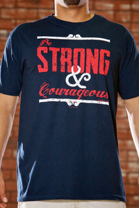 Strong & Courageous Navy T-Shirt - Men