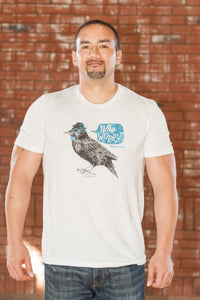 Bird Natural Crew T-Shirt - Men's