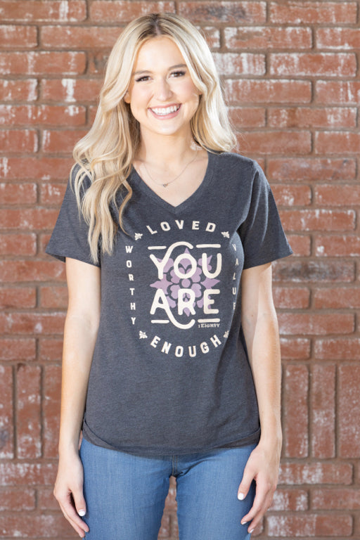 You Are Charcoal Heather V-Neck - Women's