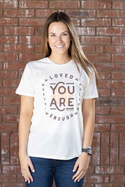You Are Vintage White Boyfriend Tee - Women's