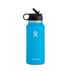 HYDROFLASK 32 OZ WIDE MOUTH W/STRAW LID