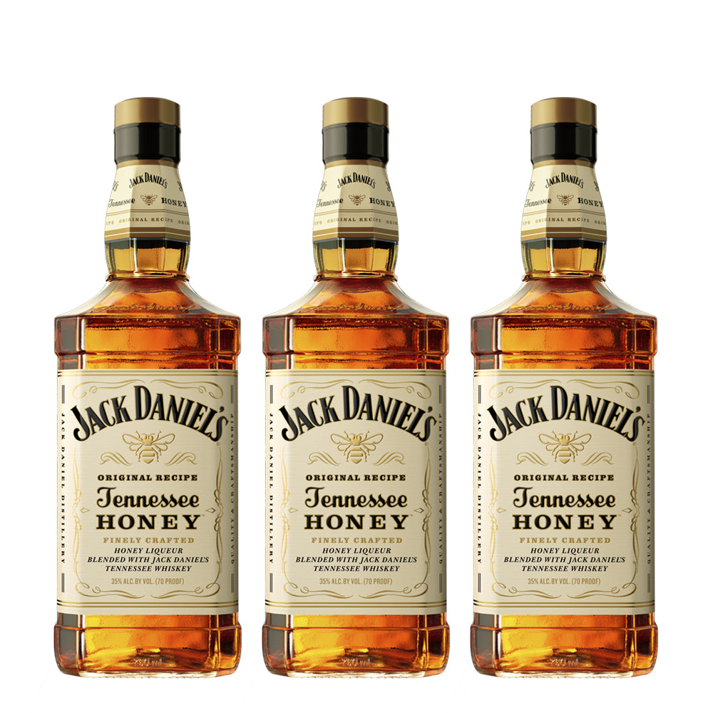 3x Jack Daniels Honey 750cc