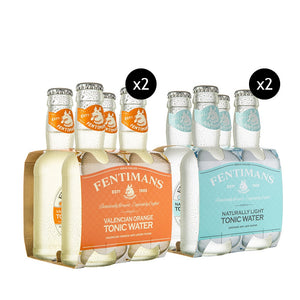 8x Fentimans Light Tonic Water + 8x Fentimans Valencian Orange