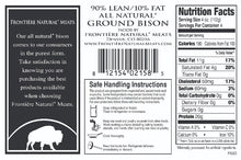 Load image into Gallery viewer, Ground Bison, 90% Lean, 1 pound package, Made in Colorado. No antibiotics.  $9.67 per package