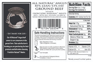 Frontiere Ground Angus Beef, 85% Lean, 1 lb packages