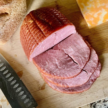 Load image into Gallery viewer, Beeler's Natural Hickory Smoked Fully Cooked 1/4 size hams, $2.99 lb or $3.75 (approx) per ham--ON SALE!! Case of 12 hams.