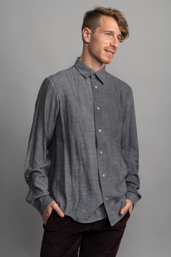 Washed shirt - gray