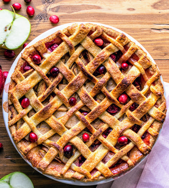 Apple Cranberry Pie (Serves 8)