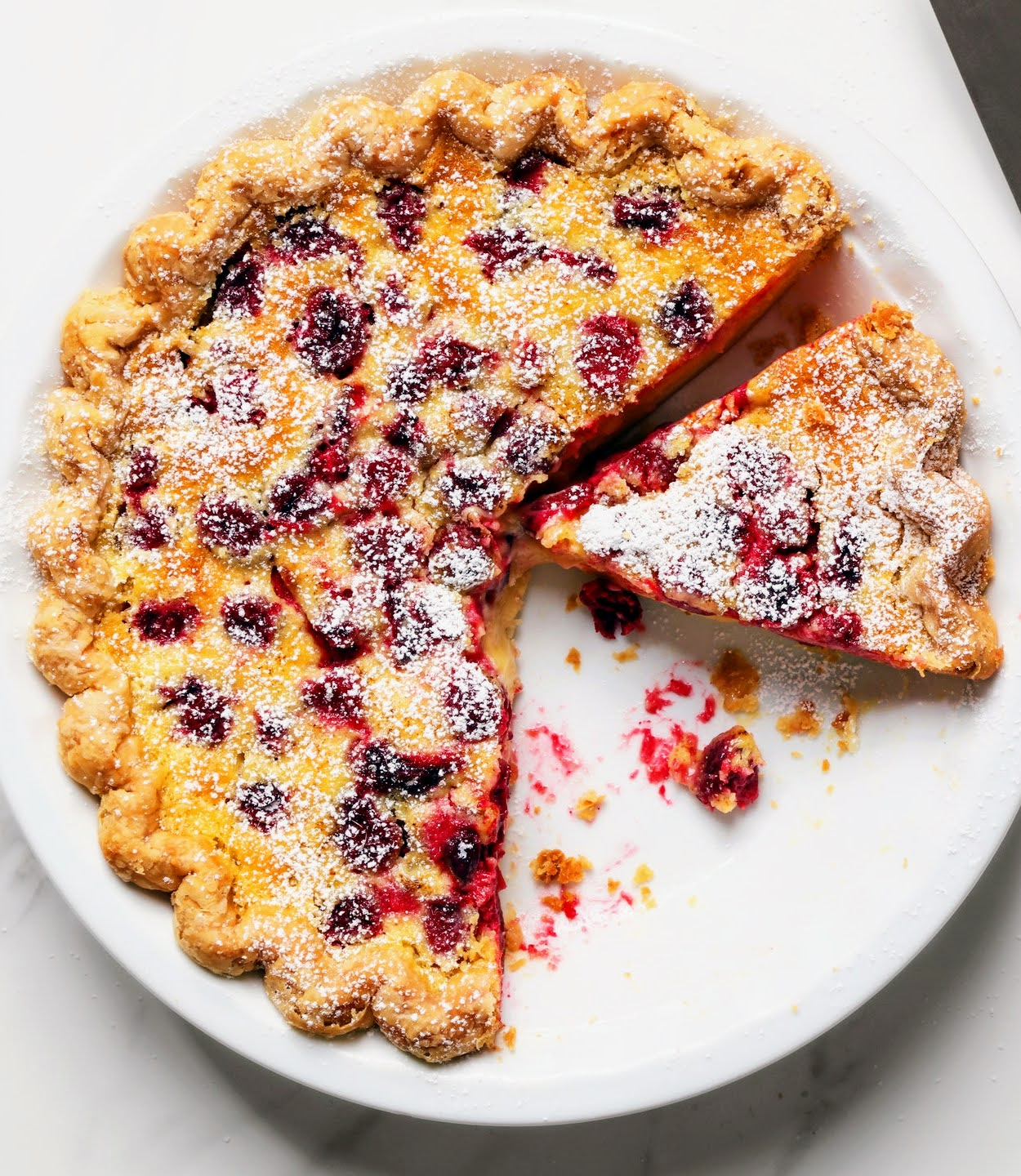 Citrus Custard and Cranberry Pie (GF Option Available) (Serves 8)